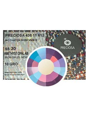 Preciosa Rhinestones Hotfix ss 20 Amethyst Opal AB - 1440 pcs