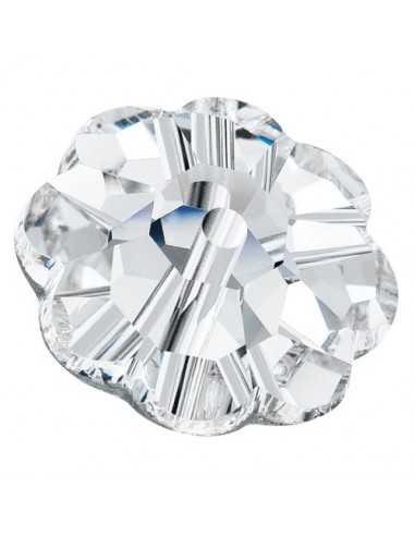 Stone Flower 10 mm Crystal - 1PC