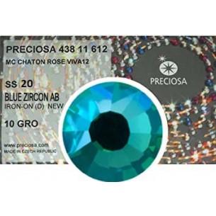 Preciosa Strass Termoadesivi ss 20 Blu Zircon AB - 1440 pz