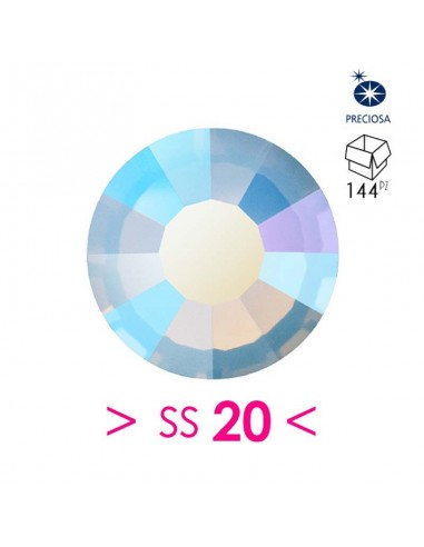 Preciosa Strass Rhinestones Termoadesivi Hotfix ss 20 Light Sapphire Opal AB - 144PZ