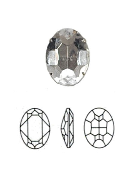 Oval  (stones with setting)
